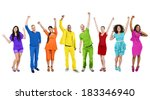 group of rainbow themed multi... | Shutterstock . vector #183346940
