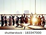 multi ethnic group of business... | Shutterstock . vector #183347000