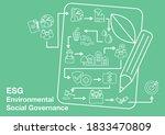 esg   environmental social... | Shutterstock .eps vector #1833470809