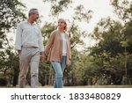 Romantic And Elderly Healthy...