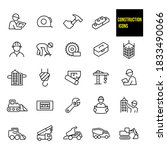 construction thin line icons  ... | Shutterstock .eps vector #1833490066