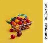 Supermarket Shopper Basket...