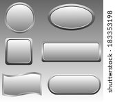 vector set of silver buttons.... | Shutterstock .eps vector #183353198