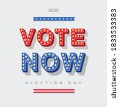 Vote Now 2020 Icon  Vector...