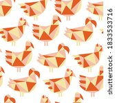 Seamless Pattern With Paper Cu...