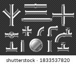 pipes and tubes plumbing... | Shutterstock .eps vector #1833537820