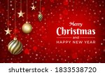 merry christmas and new year... | Shutterstock .eps vector #1833538720