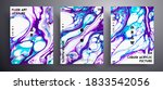 abstract liquid poster  fluid... | Shutterstock .eps vector #1833542056