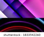 set of modern geometric shapes... | Shutterstock .eps vector #1833542260