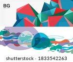set of modern geometric shapes... | Shutterstock .eps vector #1833542263