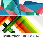 set of modern geometric shapes... | Shutterstock .eps vector #1833542269