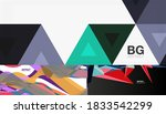 geometric abstract backgrounds... | Shutterstock .eps vector #1833542299