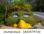 roadside ground attractions along road in Pai, Thailand