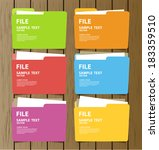 collection of file folder with... | Shutterstock .eps vector #183359510