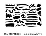 vector black paint  ink brush... | Shutterstock .eps vector #1833612049