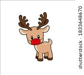Cute Rudolph Wearing Mask...