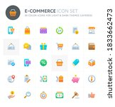 color vector icons related to... | Shutterstock .eps vector #1833662473