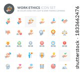color vector icons related to... | Shutterstock .eps vector #1833662476