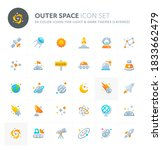 color vector icons related to... | Shutterstock .eps vector #1833662479