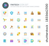 color vector icons related to... | Shutterstock .eps vector #1833662500