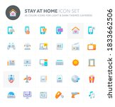 color vector icons related to... | Shutterstock .eps vector #1833662506
