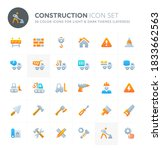 color vector icons related to... | Shutterstock .eps vector #1833662563