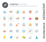 color vector icons related to... | Shutterstock .eps vector #1833662569