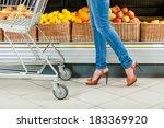 Legs Of The Female Customer...