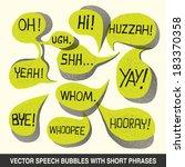 hand drawn speech bubble set... | Shutterstock .eps vector #183370358