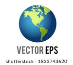 the isolated vector globe... | Shutterstock .eps vector #1833743620