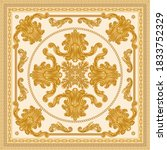 baroque silk bandana print on a ... | Shutterstock .eps vector #1833752329