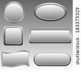 set of silver buttons. raster... | Shutterstock . vector #183375329