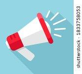 loudspeaker megaphone icon... | Shutterstock .eps vector #1833758053