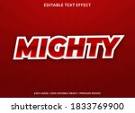 mighty text effect with bold...   Shutterstock .eps vector #1833769900