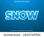 snow text effect with bold and...