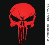 Red Skull And Bones Icon The...