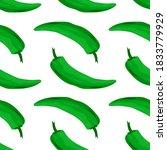 Green Pepper  Seamless Pattern  ...