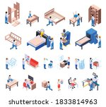 furniture production isometric... | Shutterstock .eps vector #1833814963