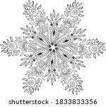 snowflake  coloring in a... | Shutterstock .eps vector #1833833356