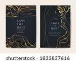 luxury marble wedding... | Shutterstock .eps vector #1833837616