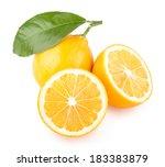 fresh lemons | Shutterstock . vector #183383879