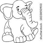 Vector Cartoon Elephant.cute...
