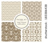 vector set of vintage seamless...   Shutterstock .eps vector #183386438