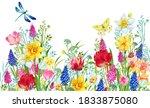 watercolor flowers for... | Shutterstock . vector #1833875080
