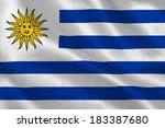 uruguay flag rippling | Shutterstock . vector #183387680