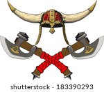 viking horned helmet emblem...