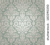 damask seamless floral pattern... | Shutterstock .eps vector #183390350