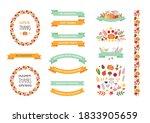 thanksgiving day design set.... | Shutterstock .eps vector #1833905659