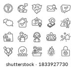 business icons set. included... | Shutterstock .eps vector #1833927730