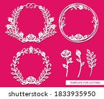 set of round frames with a... | Shutterstock .eps vector #1833935950